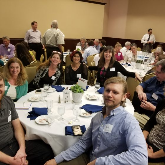 Nevada County Tech Connection table at the ERC summit 2018